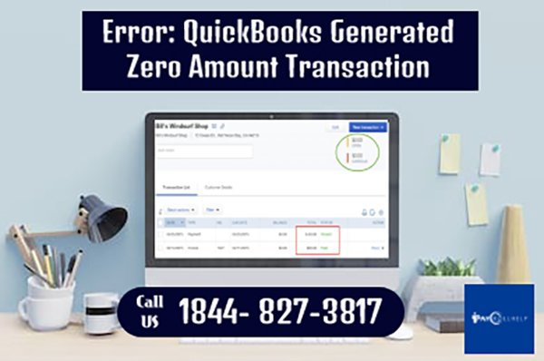 QuickBooks Generated Zero Amount Transaction