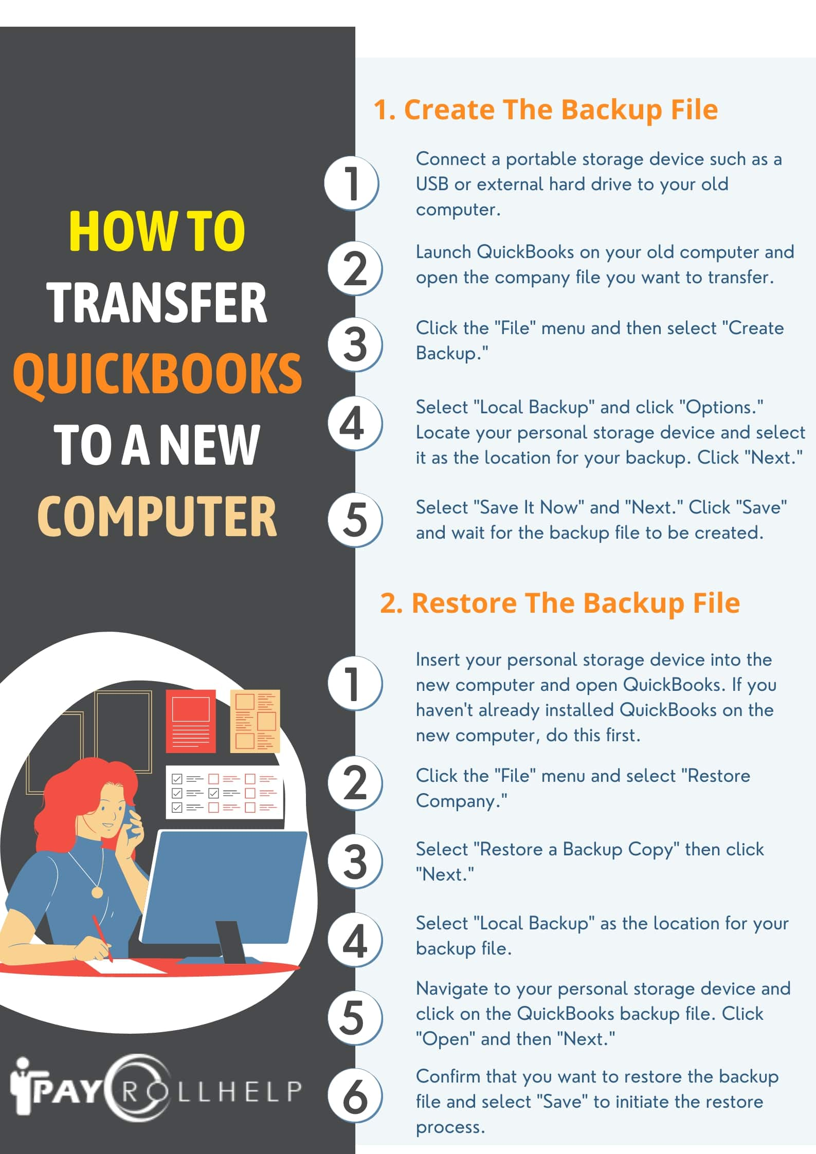 Transfer QuickBooks Payroll To New Computer