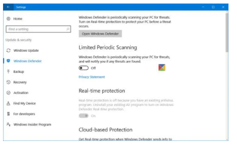 Check the Security Software Settings are turned correctly