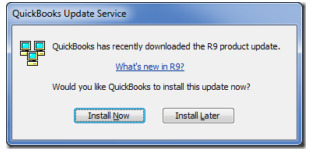 choose Install Now on the QuickBooks Update Service window